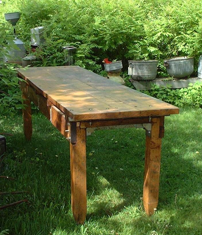 Fabulous Huge Industrial Work Bench The Ultimate Kitchen Island Machost Co Dining Chair Design Ideas Machostcouk