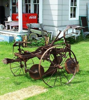 Vintage horse drawn plow 250.00