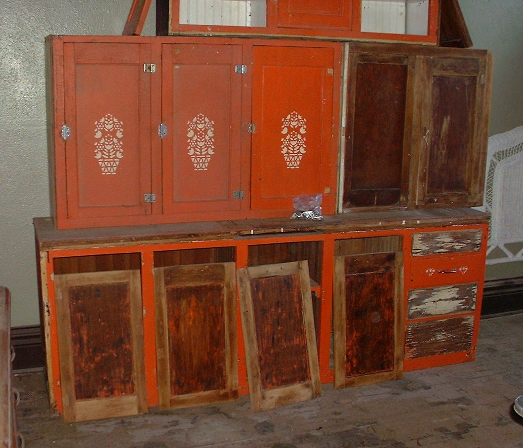 Architectural Salvage Kitchen Cabinets