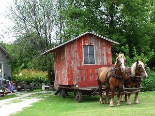 Amish Garden Shed Move 001