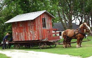 Amish Garden Shed Move 005